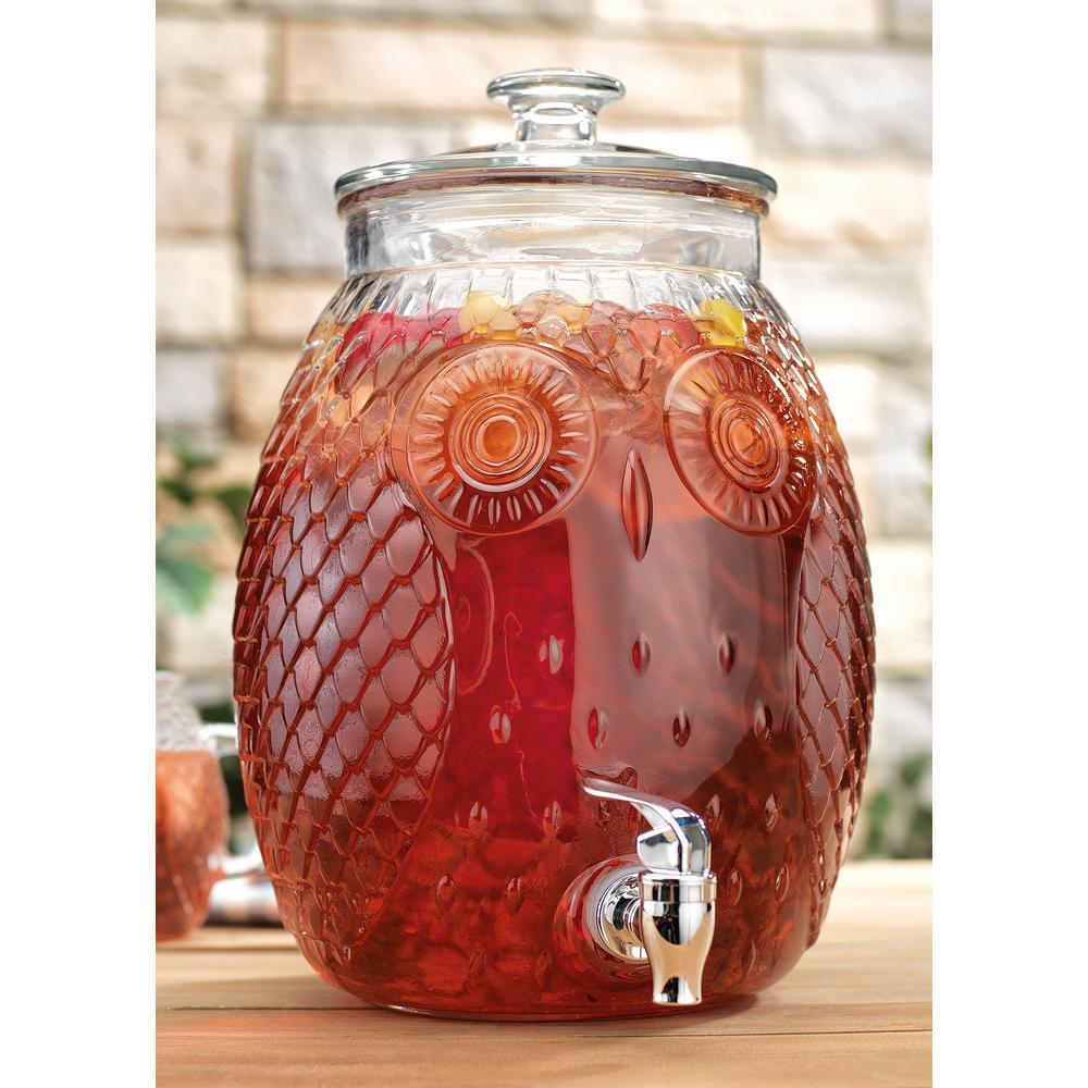2.3 Gal. Owl Shaped Beverage Serveware