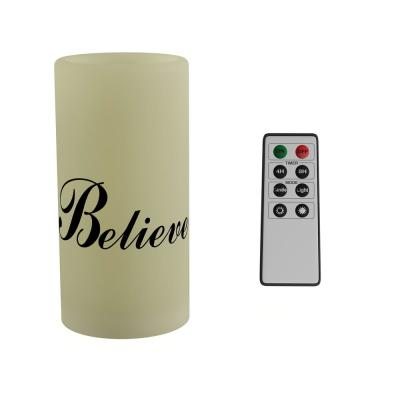 """Believe"" LED Flameless Candle with Remote Control"