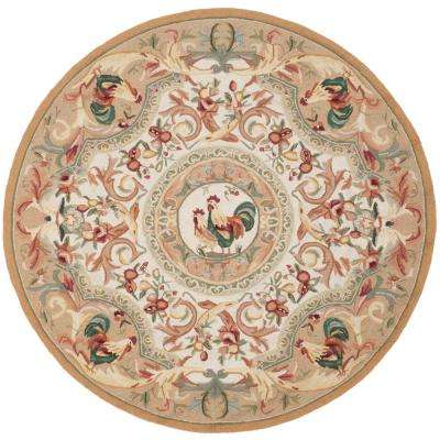 Chelsea Taupe 4 ft. x 4 ft. Round Area Rug
