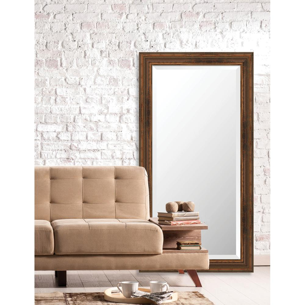 Larson Juhl Langdon 25 625 In X 49 European Wide Framed Bevel Mirror 600542204b The Home Depot