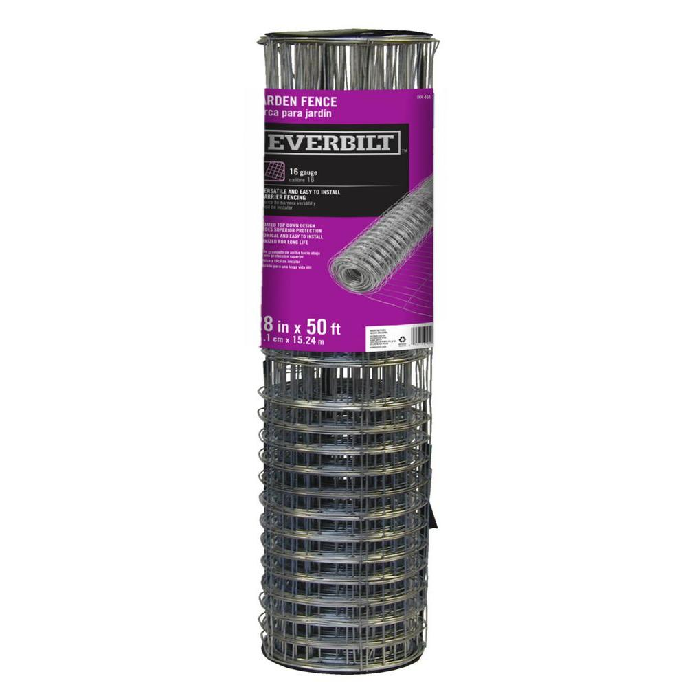 Everbilt 2.3 ft. x 50 ft. Steel Rabbit Garden Fence Welded Wire