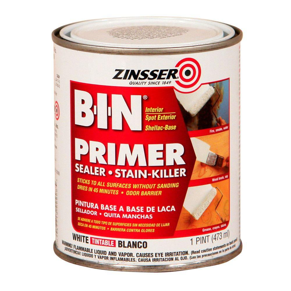 1-pt. B-I-N Shellac-Based White Interior and Spot Exterior Primer and Sealer