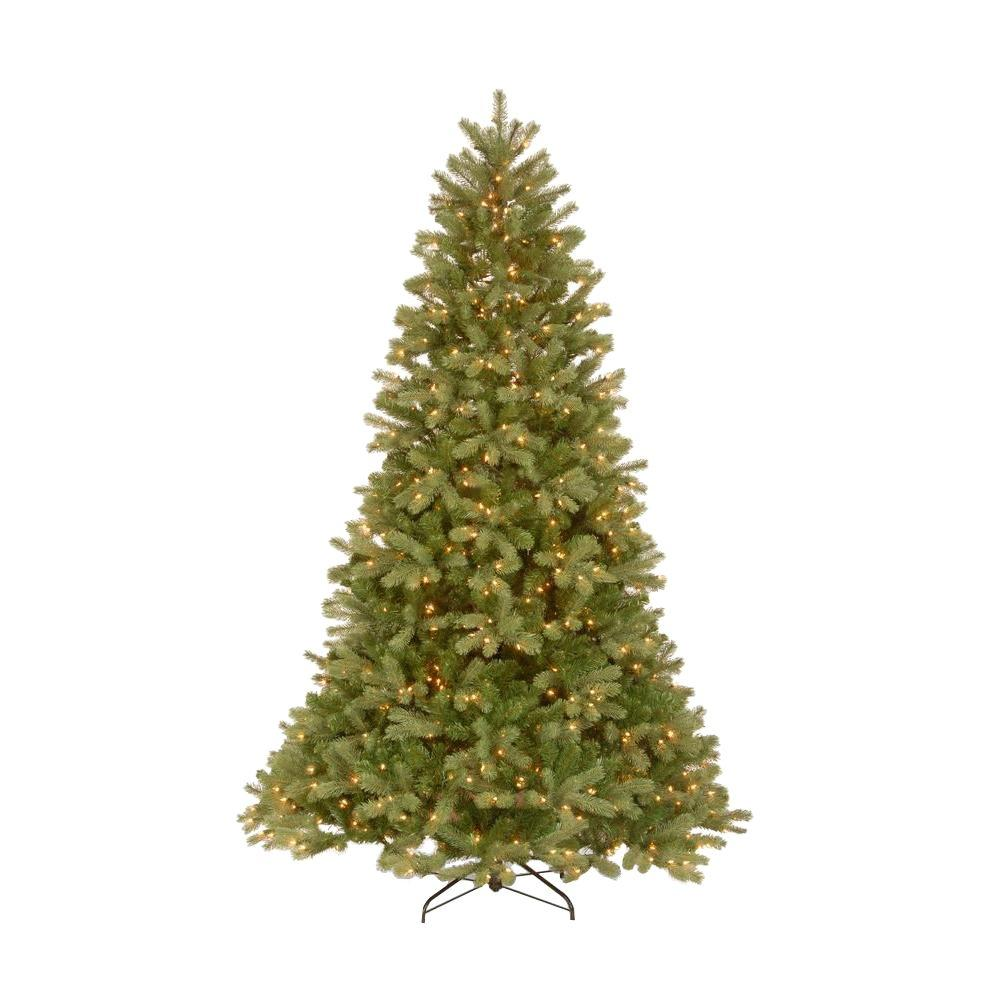 null 7.5 ft. Feel-Real Downswept Douglas Fir Artificial Christmas Tree with 750 Clear Lights