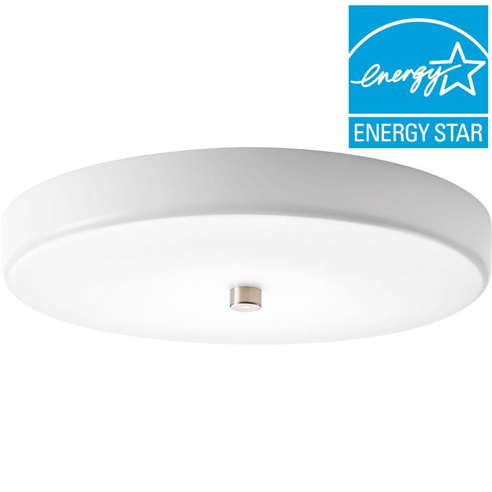 Progress Lighting 12 in. Beyond Collection 1-Light Brushed Nickel LED Flushmount  sc 1 st  The Home Depot & Progress Lighting 12 in. Beyond Collection 1-Light Brushed Nickel ... azcodes.com