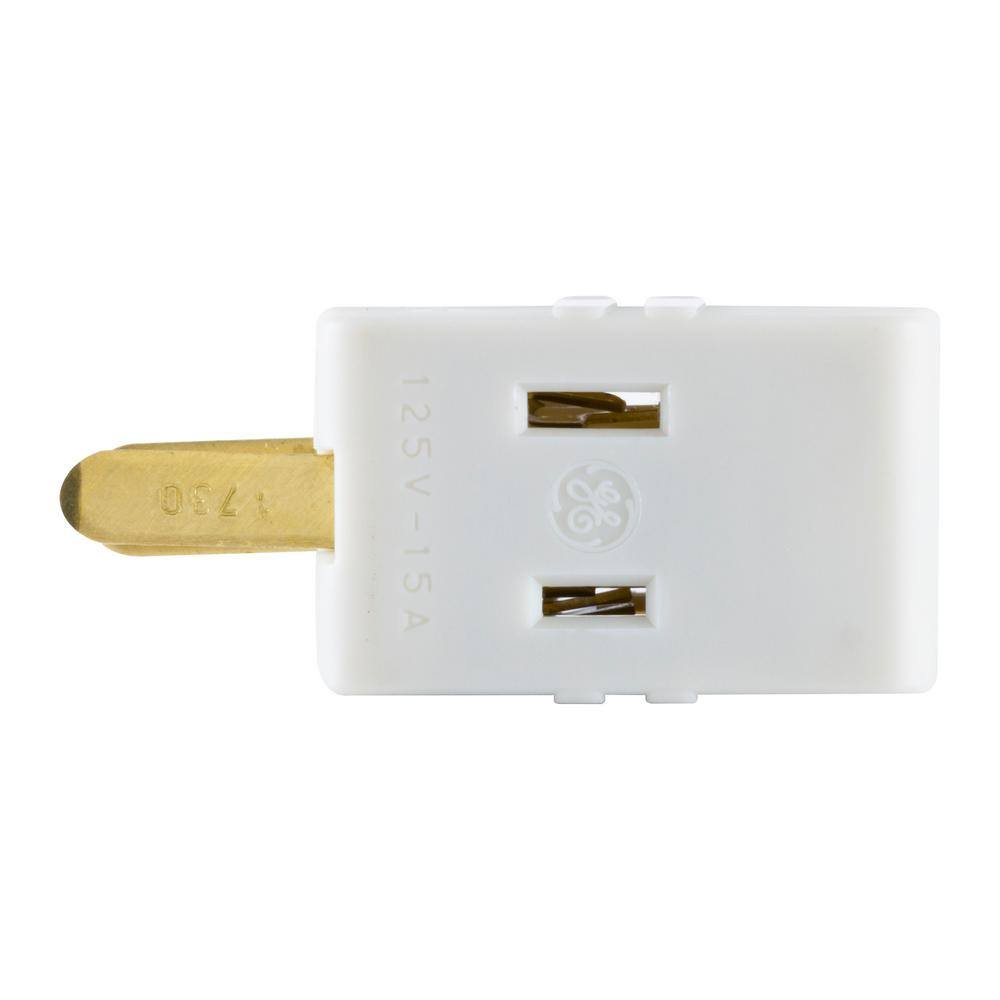 GE 3-Outlet Polarized Adapter Plug, Almond-58560 - The Home Depot