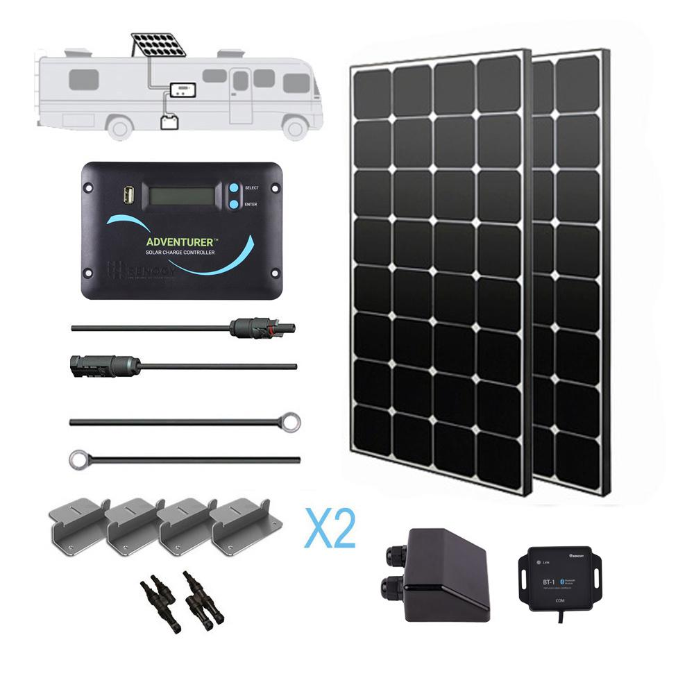 200-Watt 12-Volt Eclipse Solar RV Kit for Off-Grid Solar System