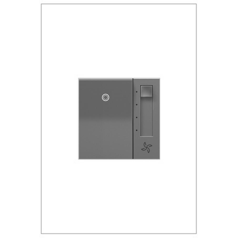 adorne Paddle 1.6 Amp 4-Speed Fan Control, Magnesium