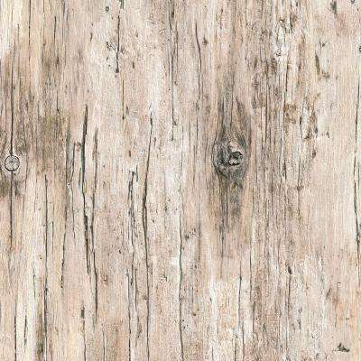 8 in. x 10 in. Laminate Sheet in Beach Antique Wood with Virtual Design SoftGrain Finish