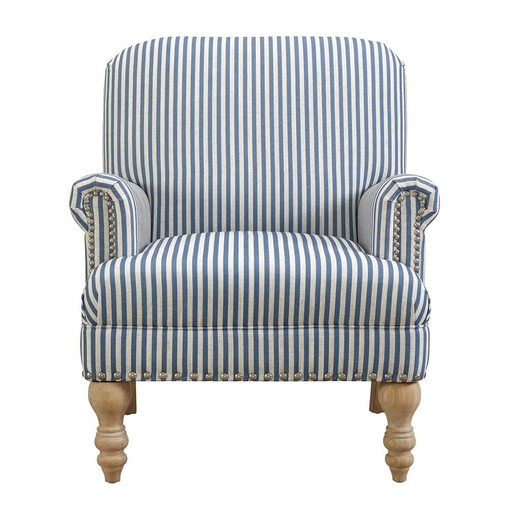 Homepop Swoop Arm Velvet Accent Chair Navy-K6499-B215 ...