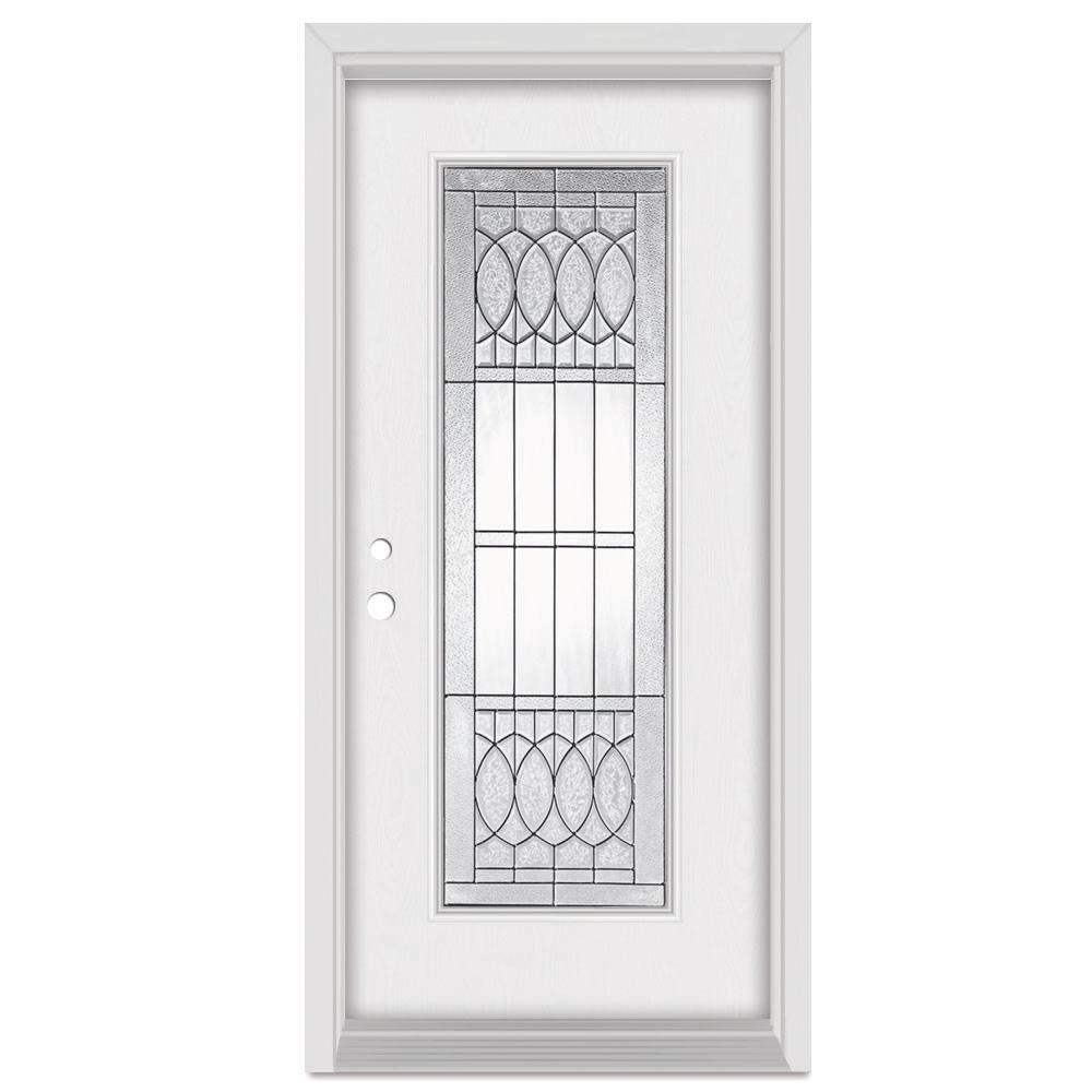 Stanley Doors 37.375 in. x 83 in. Nightingale Right-Hand Patina Finished Fiberglass  sc 1 st  The Home Depot & Stanley Doors 37.375 in. x 83 in. Nightingale Right-Hand Patina ... pezcame.com