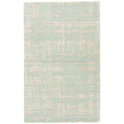 Dusty Aqua 2 ft. x 3 ft. Abstract Accent Rug