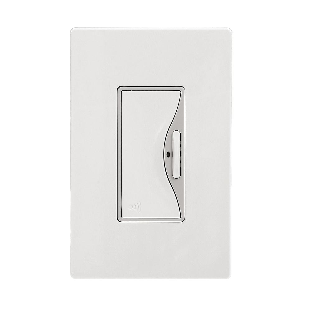 Aspire Z-Wave Anyplace Switch Battery Operated, White Satin