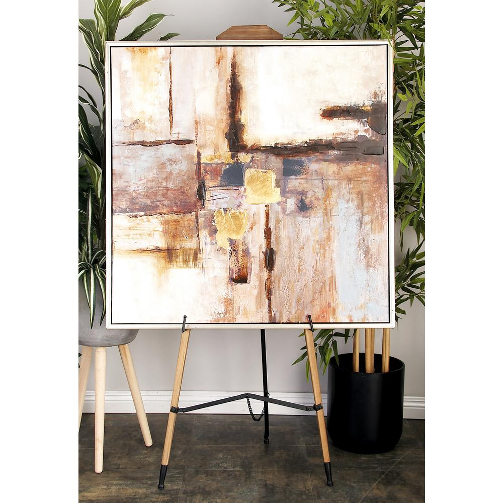 63 in. x 23 in. Beaux Arts Natural Wood Easel