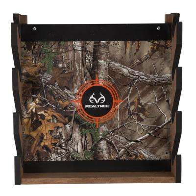 Realtree Camo 4-Gun 5-Minute Assembly Extra Storage for Accessories Wall Storage Rack