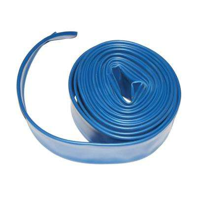 1.5 in. x 25 ft. Flat Backwash Hose with Clamp