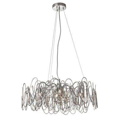 Axis 6-Light Burnished Chrome Chandelier