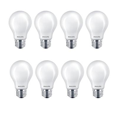 60-Watt Equivalent A19 Non-Dimmable Energy Saving Frosted Classic Glass LED Light Bulb Daylight (5000K) (8-Pack)