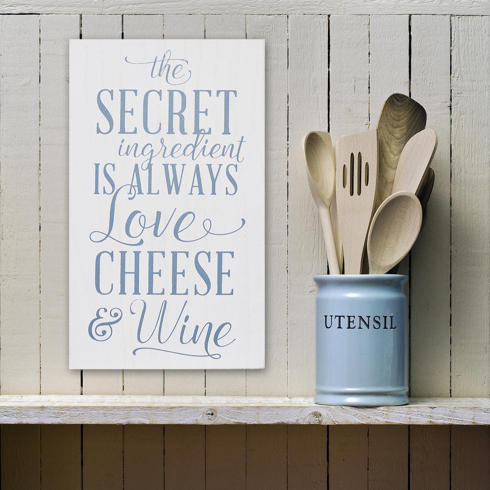 Stratton Home Decor Love Cheese Wine Decorative Sign
