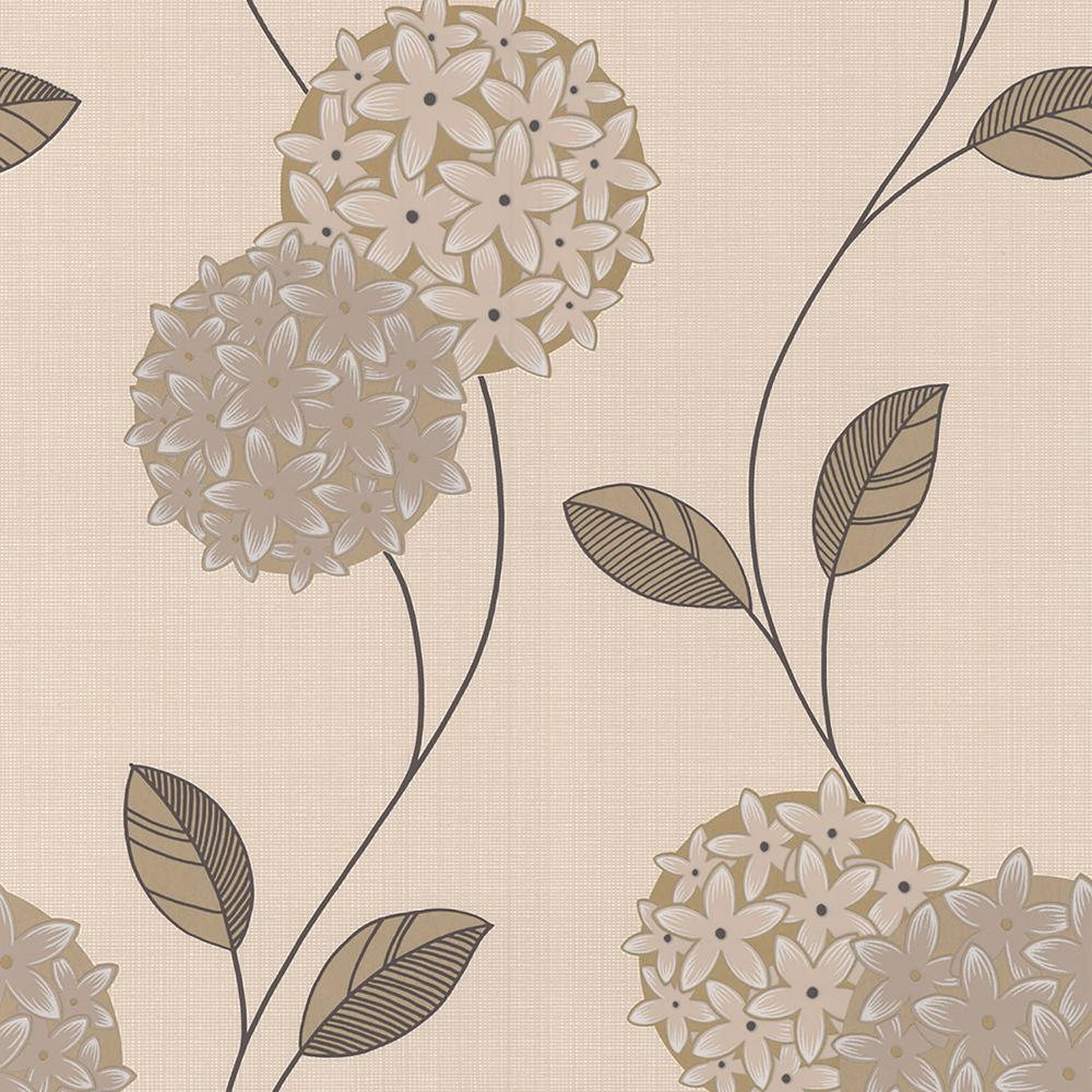 Graham Brown Cream And Stone Pippa Wallpaper The Home Depot - Brown and cream wallpaper