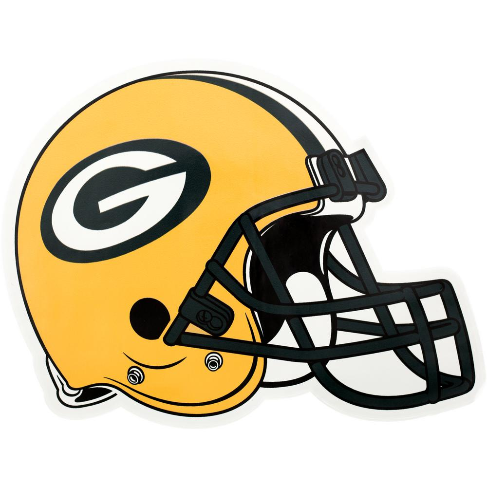 Applied Icon Nfl Green Bay Packers Outdoor Helmet Graphic Small Nfoh1201 The Home Depot