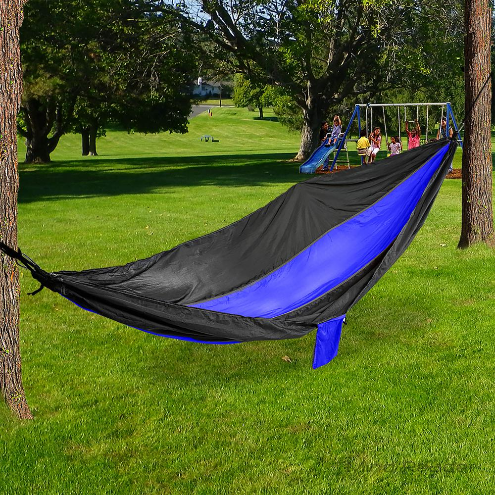 Mind Reader 9 Ft Portable Nylon Hammock With Iron Carabiner