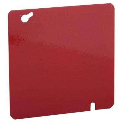 4-11/16 in. Square Blank Cover, Life Safety Red (50-Pack)