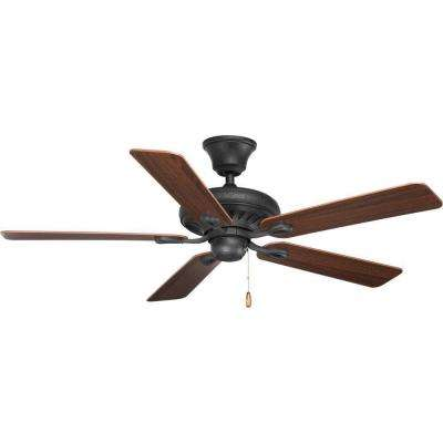 Signature Collection 52 in. Indoor Forged Black Classic Ceiling Fan