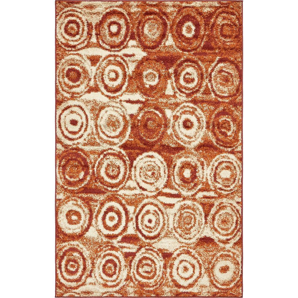 Autumn Spice Terracotta 5' 0 x 8' 0 Area Rug
