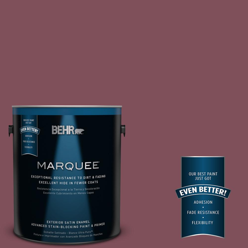BEHR MARQUEE Home Decorators Collection 1-gal. #HDC-CL-02 Fine Burgundy Satin Enamel Exterior Paint