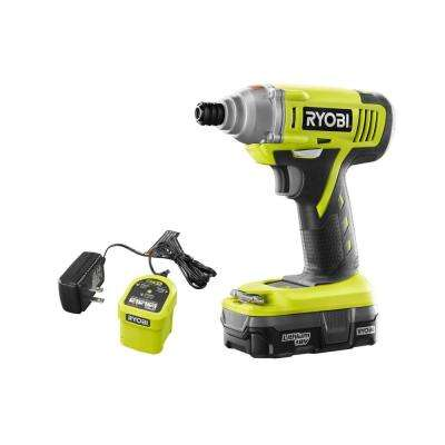 18-Volt ONE+ Lithium-Ion Cordless 1/4 in. Hex Impact Driver with (1) 1.3 Ah Battery and Charger