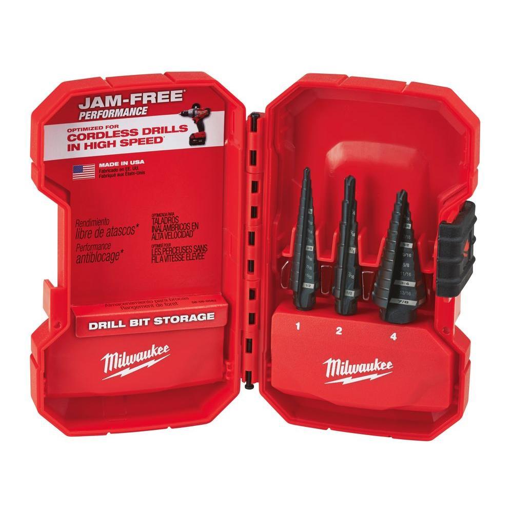 Milwaukee Step Drill Bit Kit (3-Piece)