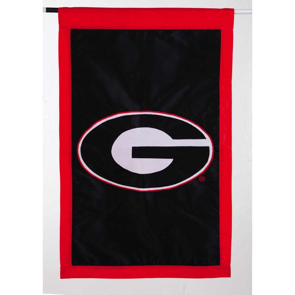 2.4 ft. x 3.6 ft. University of Georgia Applique House Flag