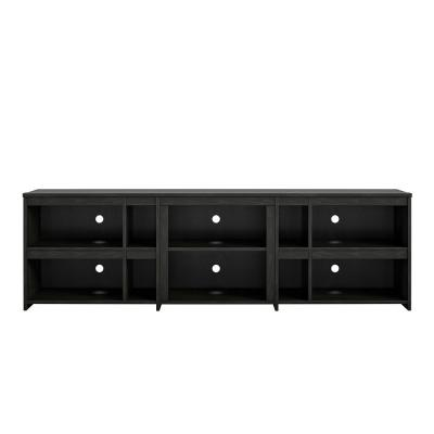 Savona 71 in. Black Oak Particle Board TV Stand Fits TVs Up to 70 in. with Cable Management
