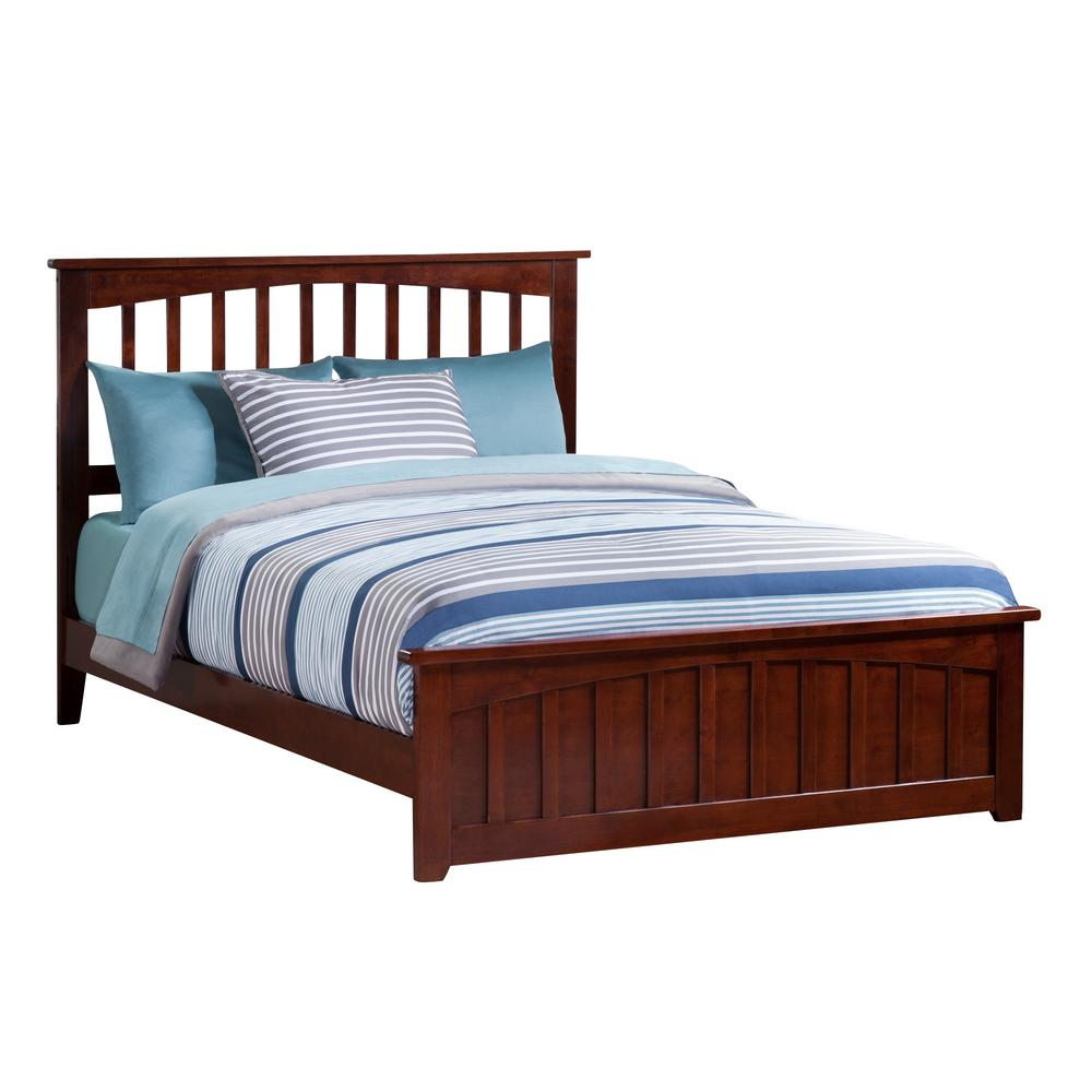 Atlantic Furniture Mission Walnut Full Traditional Bed With Matching