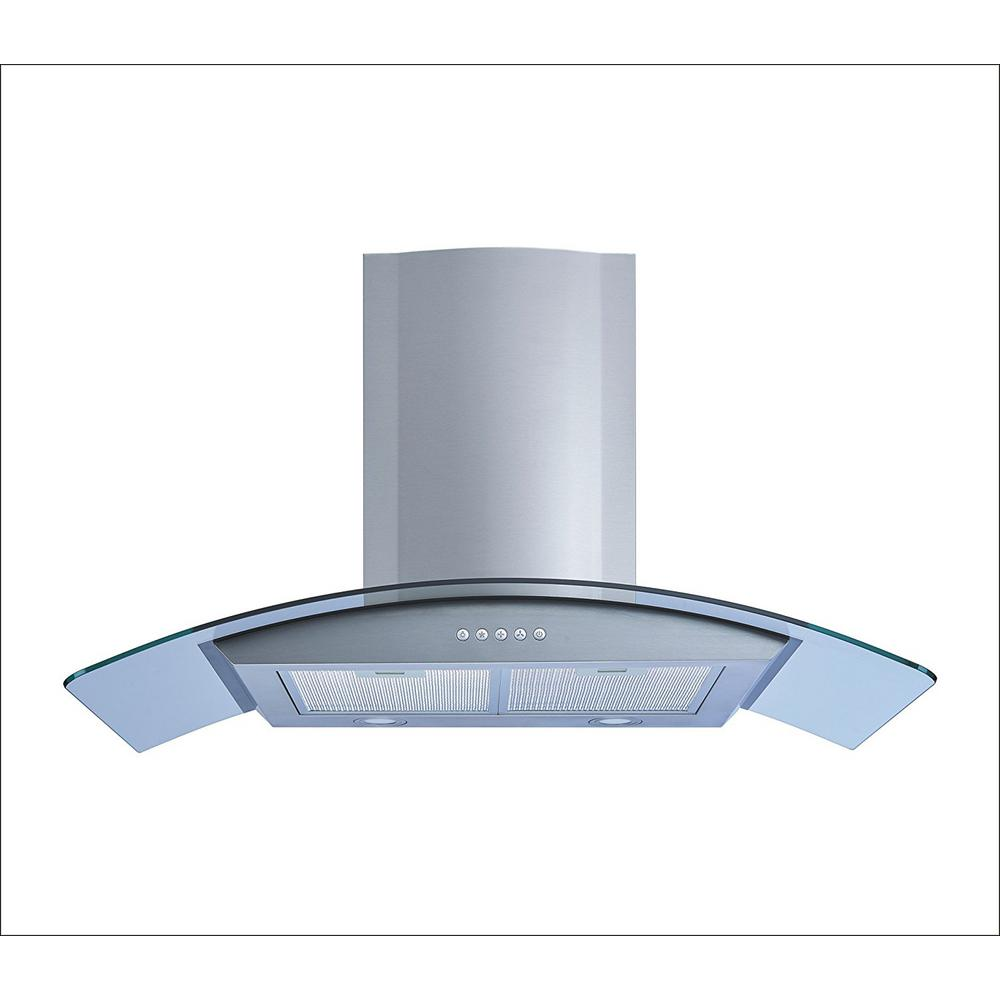 30 in. Convertible Wall Mount Range Hood in Stainless Steel and