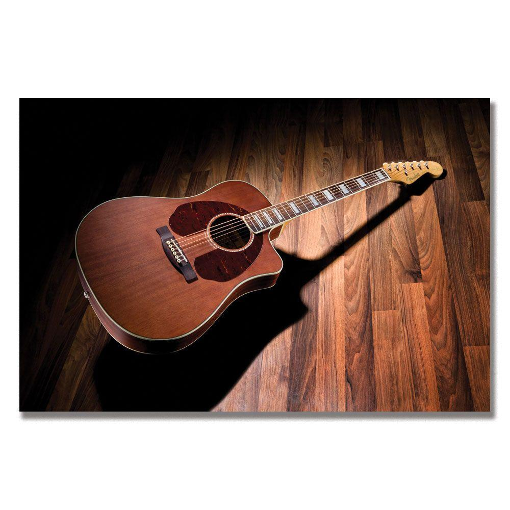 null 35 in. x 47 in. Fender Acoustic Guitar Canvas Art