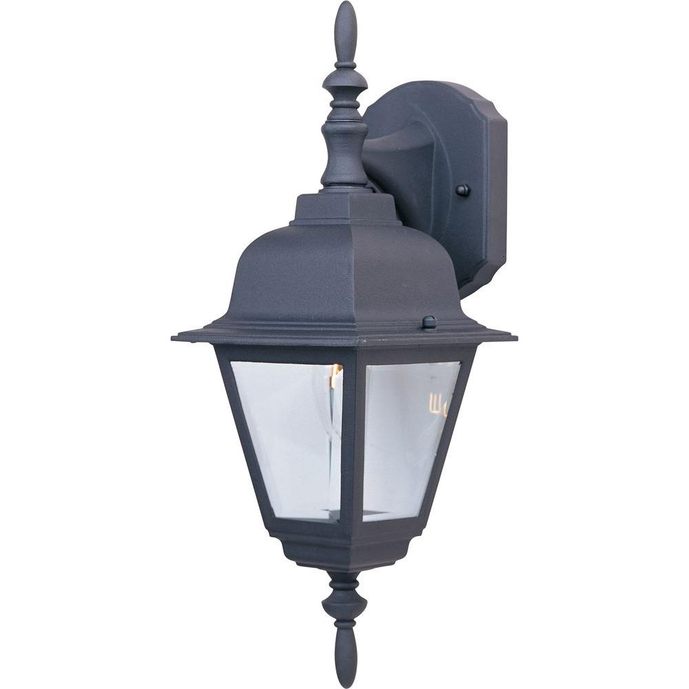 Maxim Lighting Builder Cast 1-Light Black Outdoor Wall Mount
