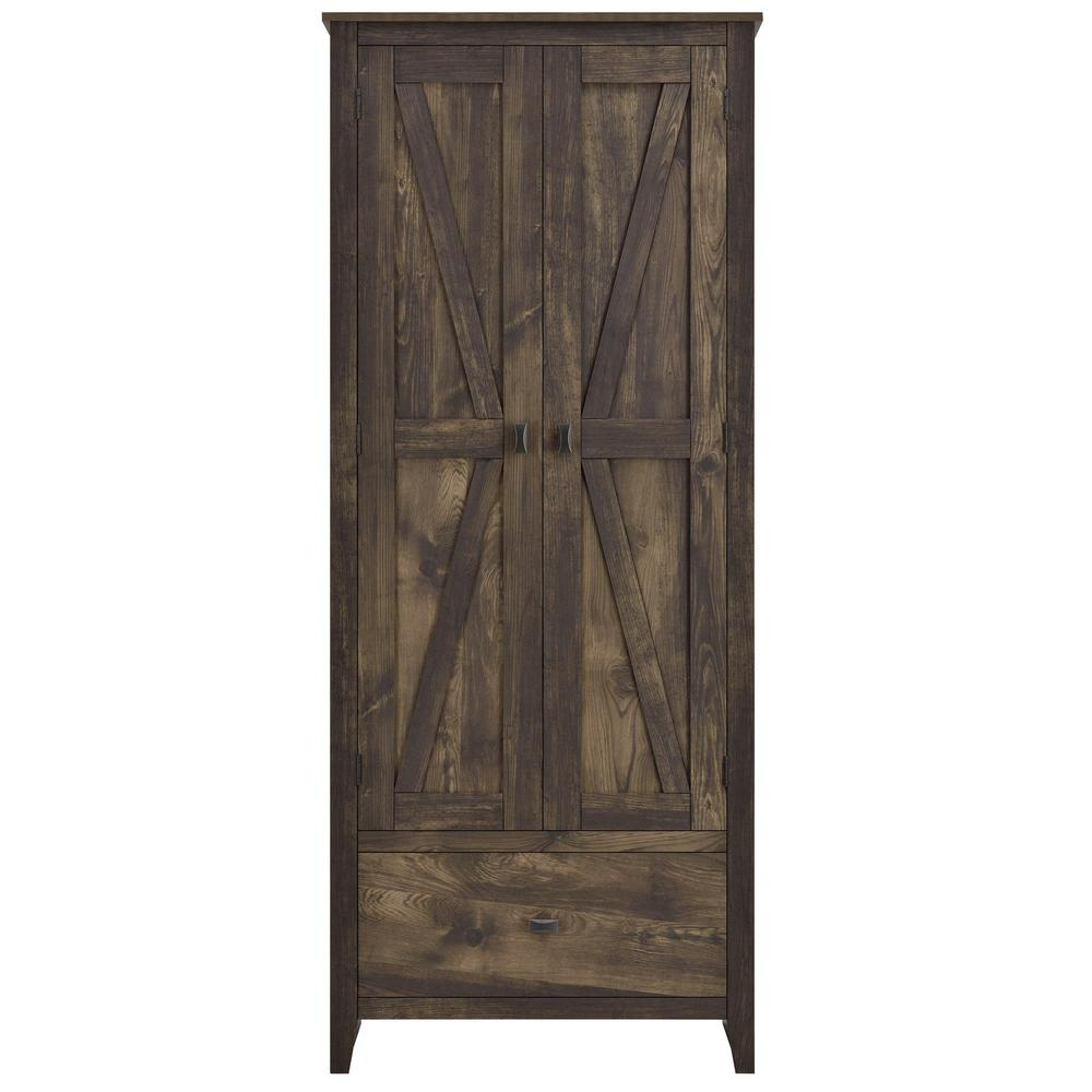 W Storage Cabinet In Rustic HD17448   The Home Depot