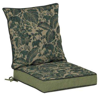 Casablanca Elephant Snap Dry 2-Piece Outdoor Lounge Chair Cushion