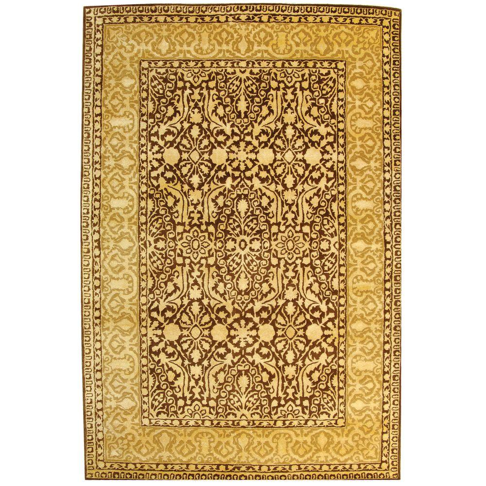 Safavieh Silk Road Brown and Ivory 6 ft. x 9 ft. Area Rug