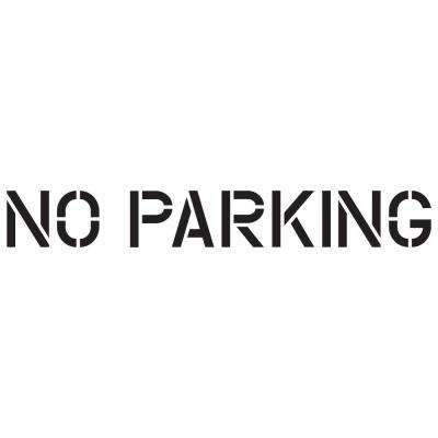 image relating to Free Printable 4 Inch Number Stencils known as 8 inside. No Parking Stencil