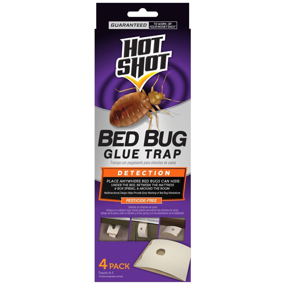 Hot Shot Bed Bug Glue Trap (4-Count)