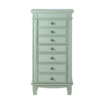 Cordelia Antique Blue Jewelry Armoire