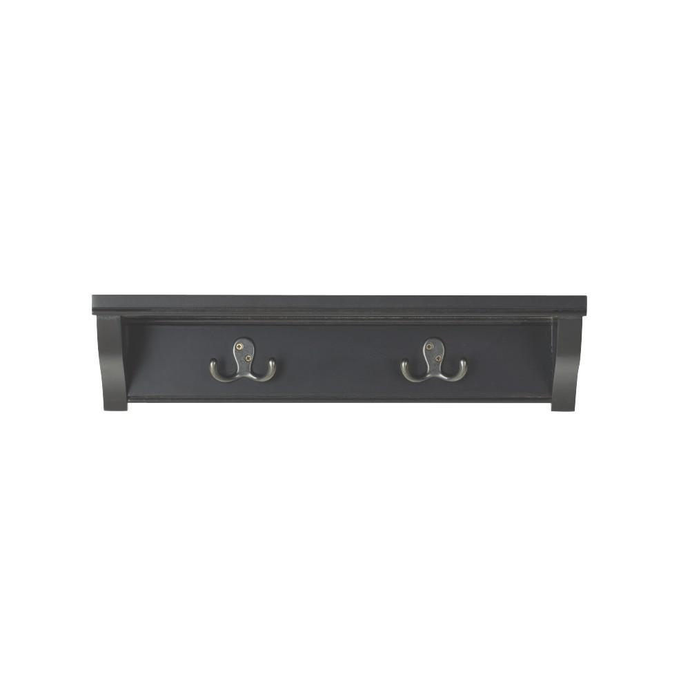 20 in. W x 5 in. D 2-Hook Silhouette Decorative Shelf
