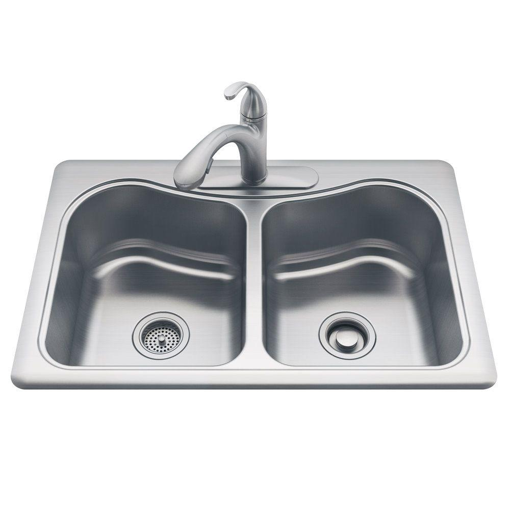 Kohler all in one staccato drop in stainless steel 33 in 3 hole kohler all in one staccato drop in stainless steel 33 in 3 workwithnaturefo