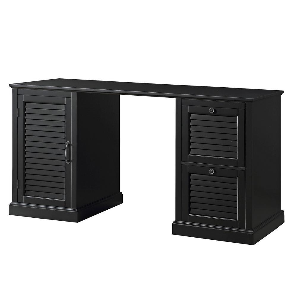 Black Chapman 2-Drawer Desk