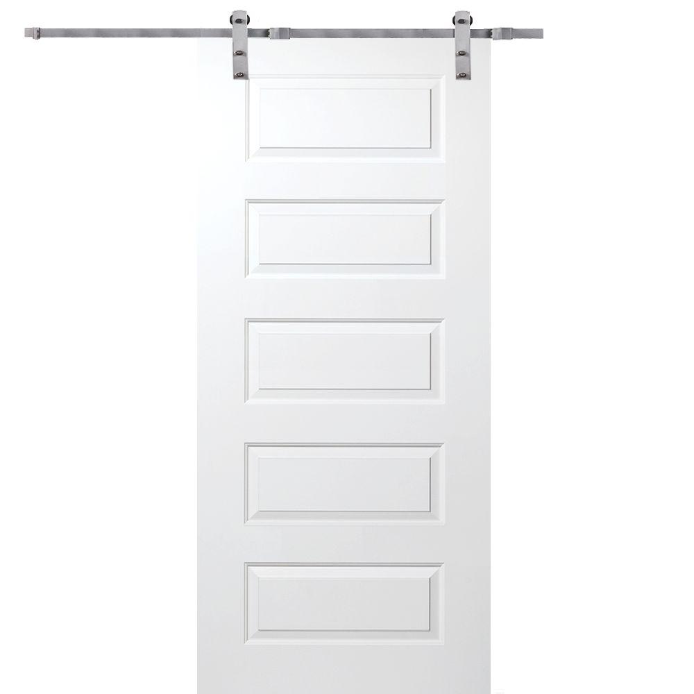 MMI Door 36 In X 80 Primed Rockport Smooth Surface Solid Core