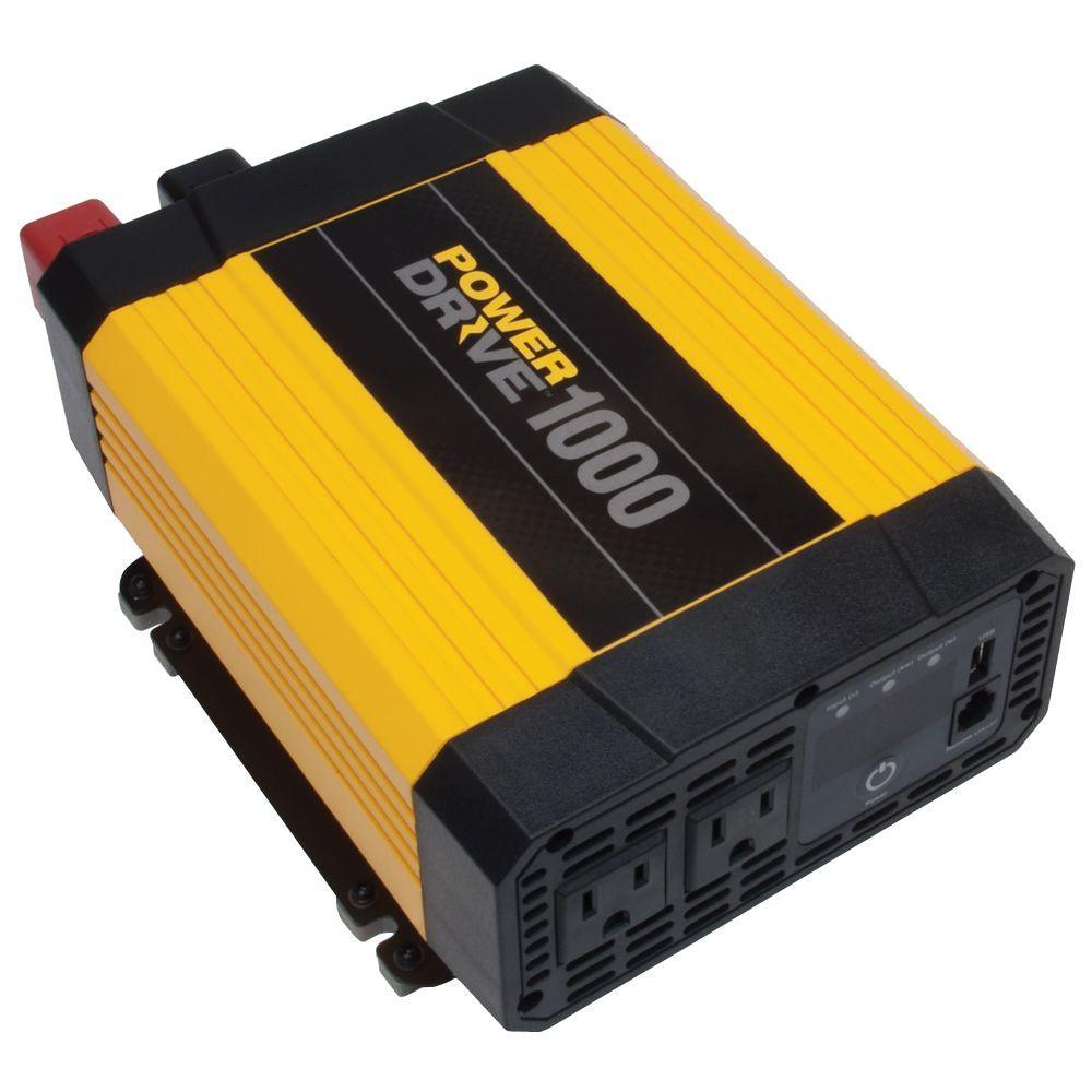 1,000-Watt Power Inverter, Yellow/Black