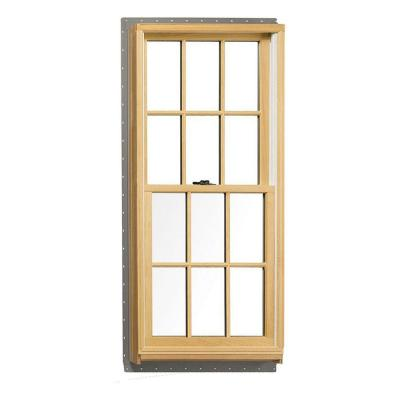 37.625 in. x 56.875 in. 400 Series Tilt-Wash Double Hung Wood Window with White Exterior and Colonial grilles