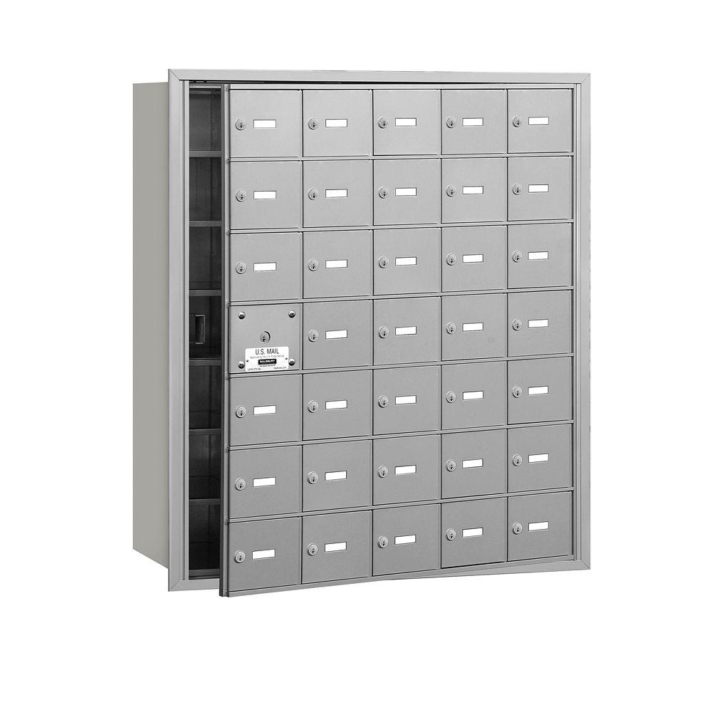 Aluminum USPS Access Front Loading 4B Plus Horizontal Mailbox with 35A